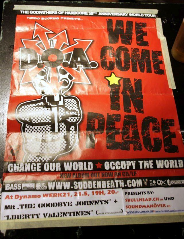 D.O.A WE COME IN PEACE WORLDTOUR 2012