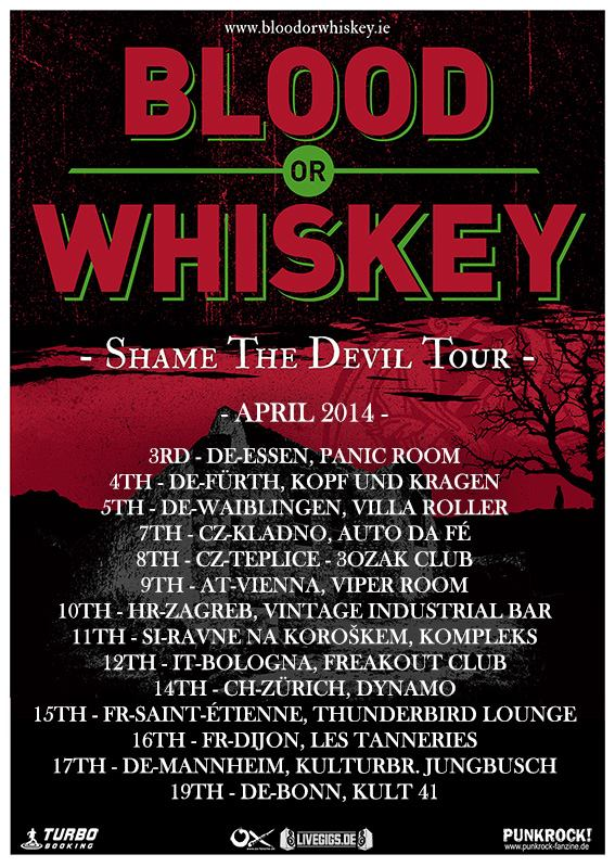 BLOD OR WHISKEY AT DYNAMO WERK21 14.04.14